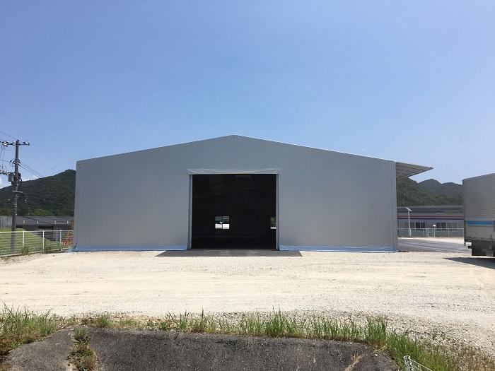 ゴウダ(株)山口工場テント倉庫新築工事の画像